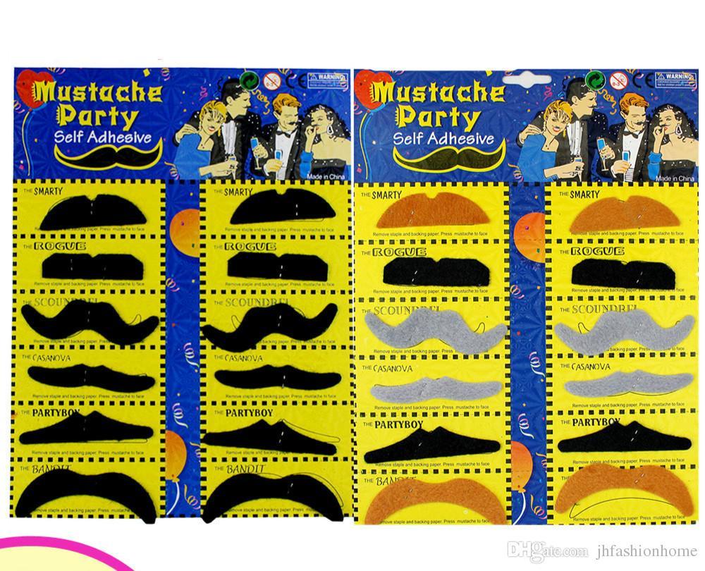 90G set Halloween April Fools'Day acessórios do partido Simulação barba bigode Fontes do Partido festivo venda para o conjunto