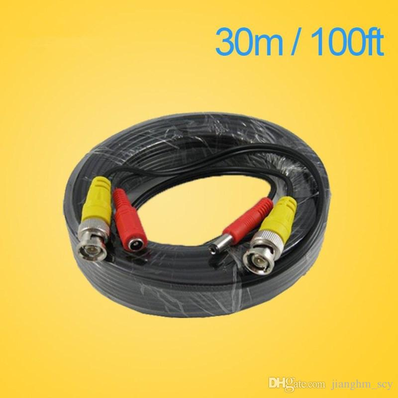 LLLOFAM 100FT CCTV cable 30m BNC Video Power coaxial Cable bnc video output cable for cctv Security Camera dvr surveillance system