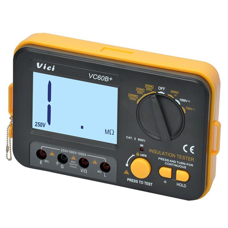 Freeshipping digital earthmeter Insulation Resistance Tester Megohmmeter Ohmmeter Voltmeter DVM 1000V 2G w/ LCD Backlight