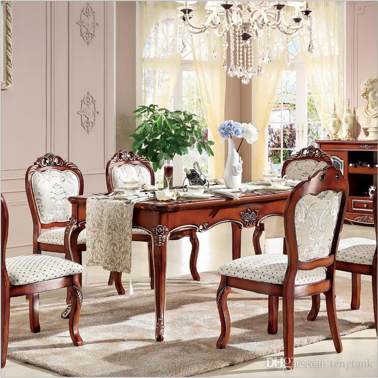 2018 Antique Style Italian Dining Table, 100% Solid Wood Italy Style ...