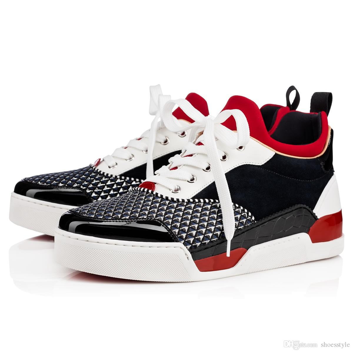 Factory Price - Low Top With Luxurious Loubikick Sneakers Flat,Red Bottom  90s Basketball Shoe Perfect Quality Casual Outdoor Sports Causal Shoes  Sneakers ...