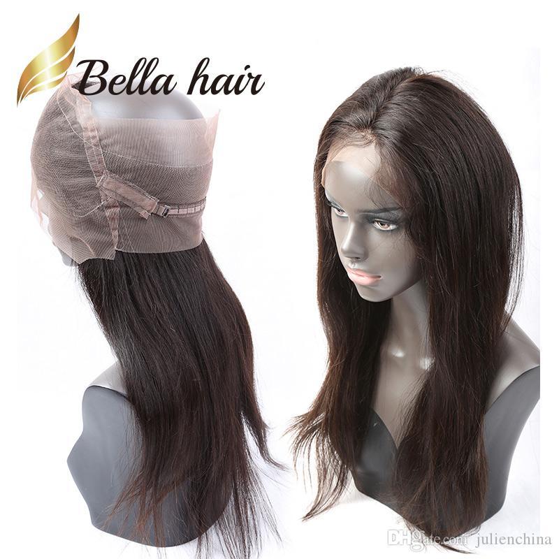 360 encaje frontal brasileño indio indio malasio recto cabello humano 360 ventas de cierre Bellahair color natural virgen cierre de pelo