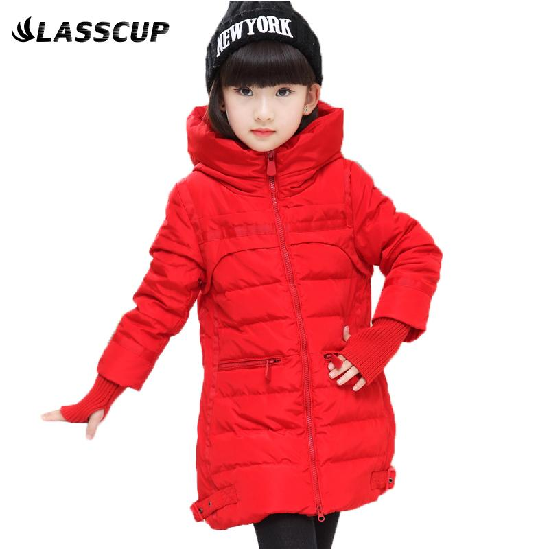 Girls Coats And Jackets Duck Down Warm Coats Kids Baby Thick Long ...