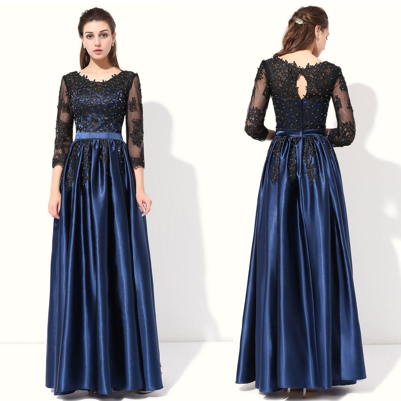Großhandel Abendkleid Einfache Bankett Elegante Mutter Kleid 3/4 ...