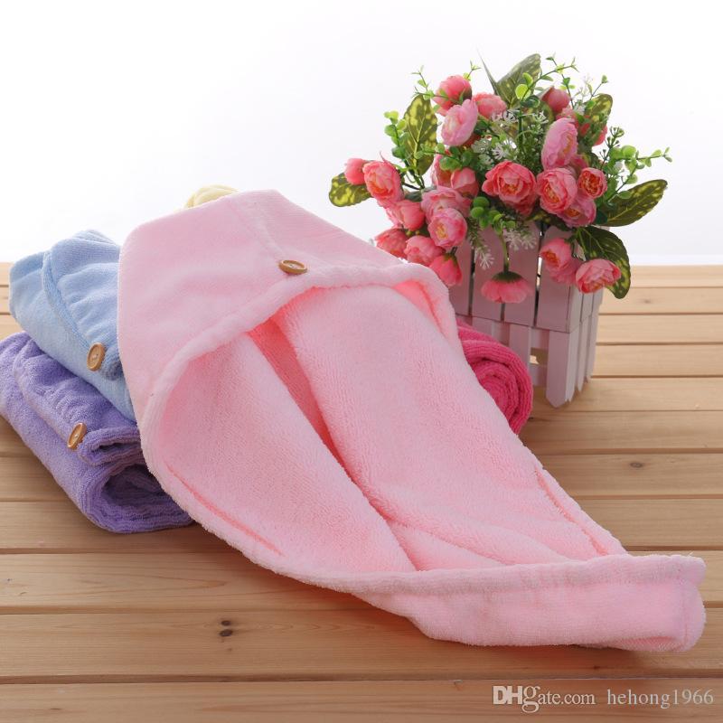 Shower Caps Plush Super Absorbent Hairs Cap Microfiber Magic Quick Dry Towel Bathing Hats Turban Wrap Hat High Quality 5 5gy C R