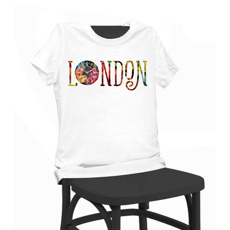 London Colourful Print Beauty T Shirt Funny T Shirts Short Sleeve ...