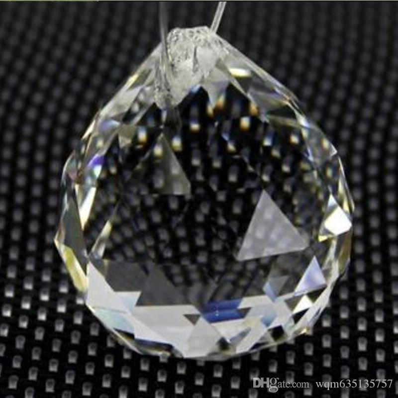 Clear 30mm Faceted Glass Crystal Suncatcher Ball Prism Chandelier Crystal Parts Hanging Chandelier Parts Home Decoration