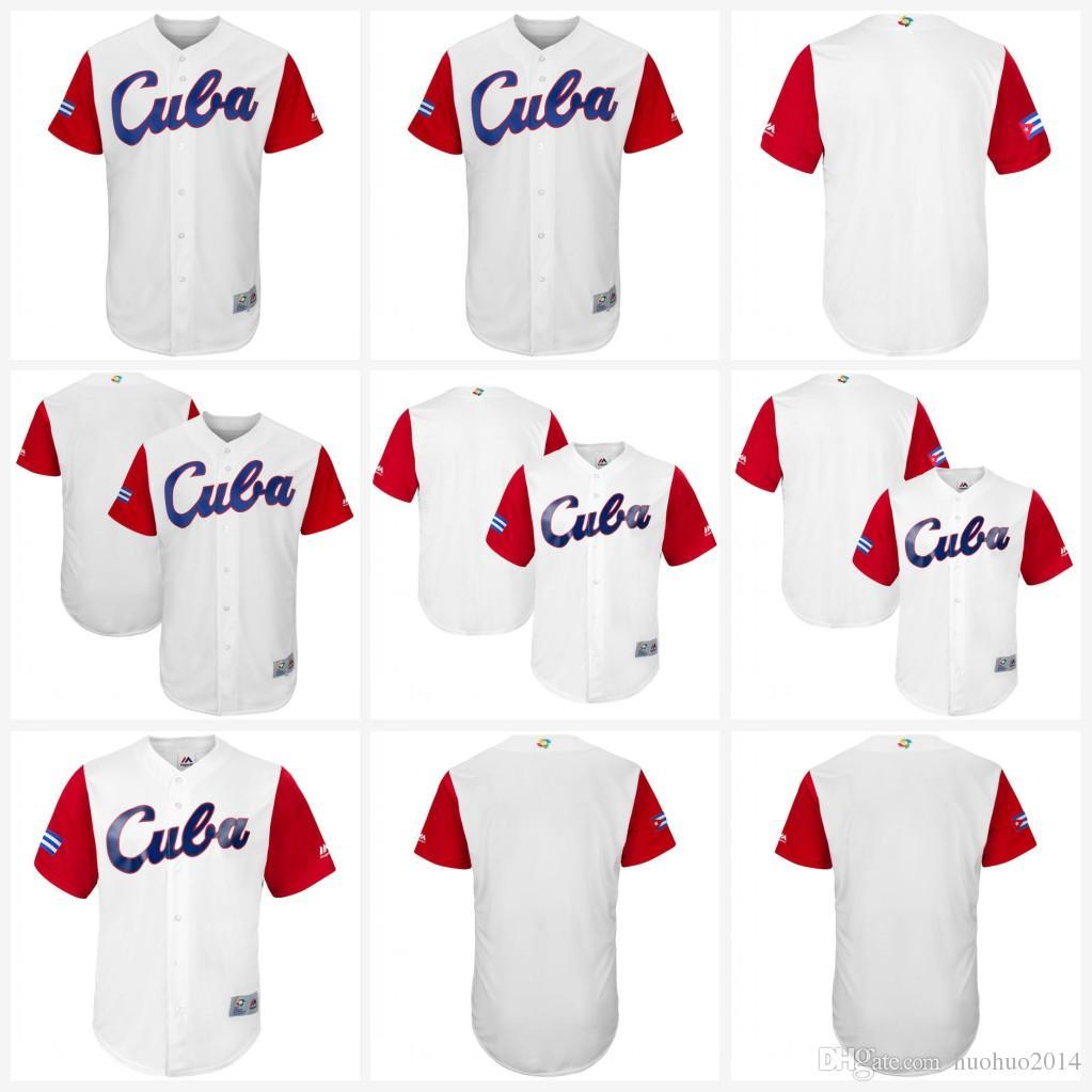 23c495b4b9d 2019 Youth Cuba 2017 World Baseball Classic Jersey White Cool Base 100%  Stiched Embroidery Logos Customized Baseball Team Jerseys Kids From  Huohuo2014, ...