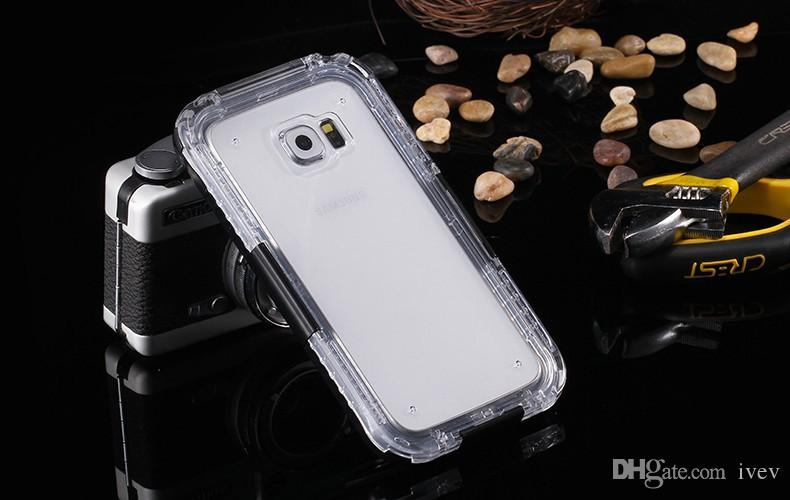 2017 NEW Bag For Samsung Galaxy S3 S4 S5 Note 4 5 S7 S7 Edge S6 Edge Plus Waterproof Cases Clear TPU Hybrid Swimming Dive S8 Plus Phone Case