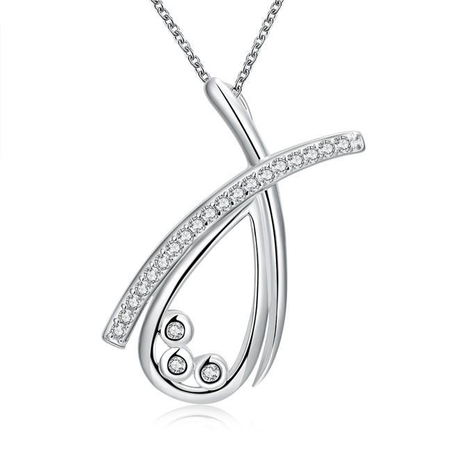 vendita calda Orso vela gioielli in argento placcato collana donna WN769, belle collane con pendente in argento 925 con catena