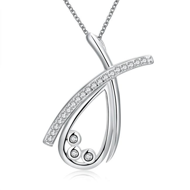 Venta caliente Oso navegando collar de joyería plateada de plata esterlina para mujer WN769, bonitos Collares pendientes de plata 925 con cadena