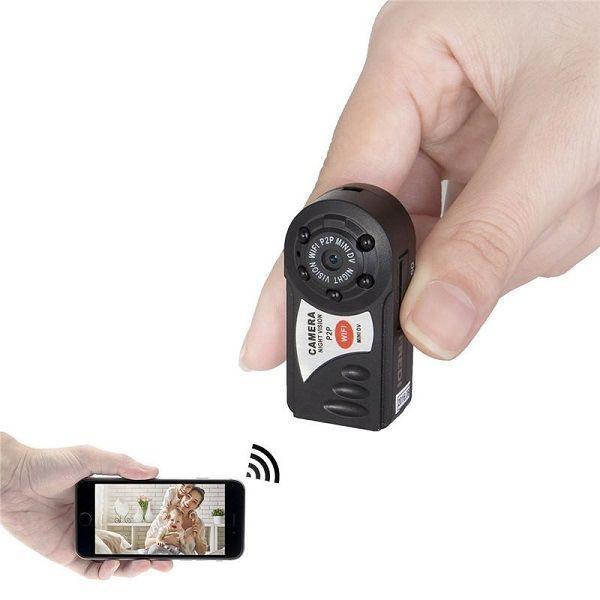 Q7 مصغرة DV واي فاي كاميرا IP كاميرا فيديو لاسلكية كاميرا الأشعة تحت الحمراء للرؤية الليلية PC كاميرا ويب P2P ميني DV DVR مع مربع التجزئة