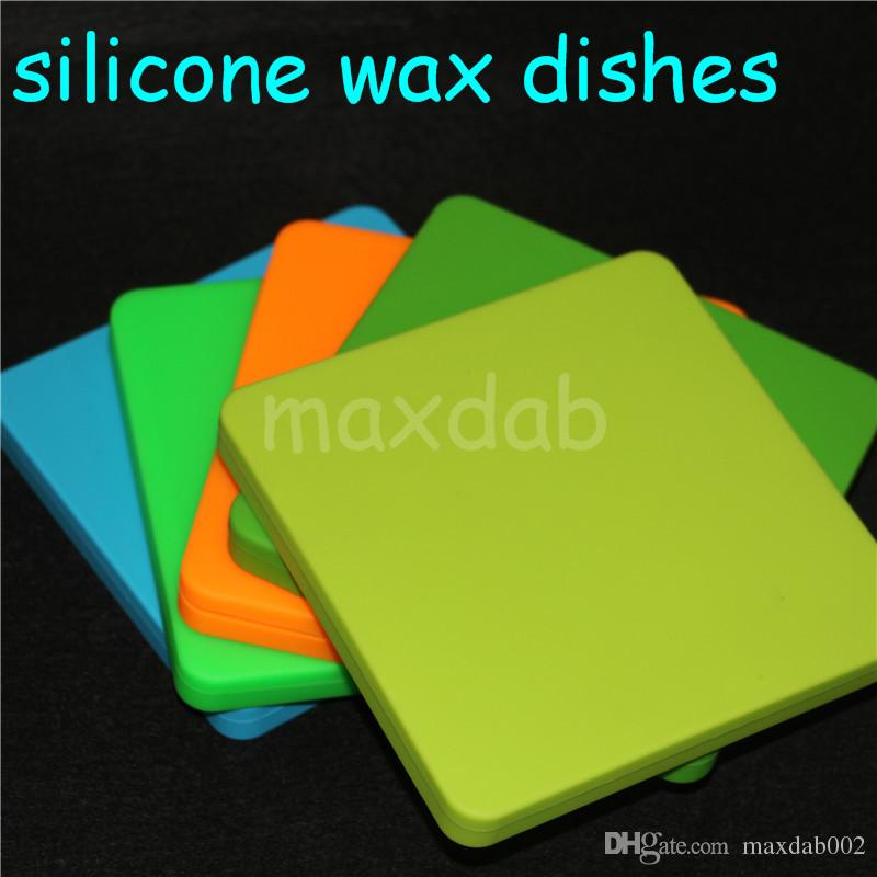 silicone wax pad silicone Wax Container 3ml 5ml 7ml Silicon containers wax jars dab tool storage oil Jars Concentrate Case silicone oil rigs