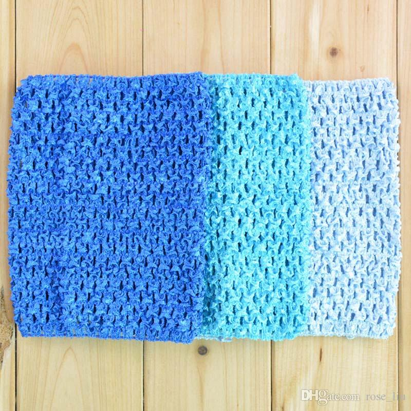 6 pollici Baby Girl Elastic Chest Wrap Infant Waffle Crochet Fascia Baby Rayon Tutu Tube Top Ragazza Hairband 15x15cm XT