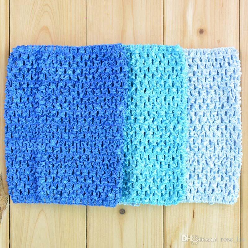 9 polegada Bebê Menina Envoltório Do Peito Elástico Infantil Waffle Crochet Headband Do Bebê Rayon Tutu Tubo Tops Menina Hairband 23x20 cm XT