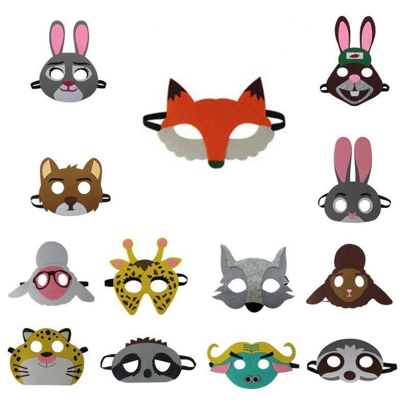 Ninos De Halloween De Dibujos Animados Mascara De Animales Fox Conejo Tigre Cosplay Mascaras Para Ninos Partido Mascara De La Mascarada