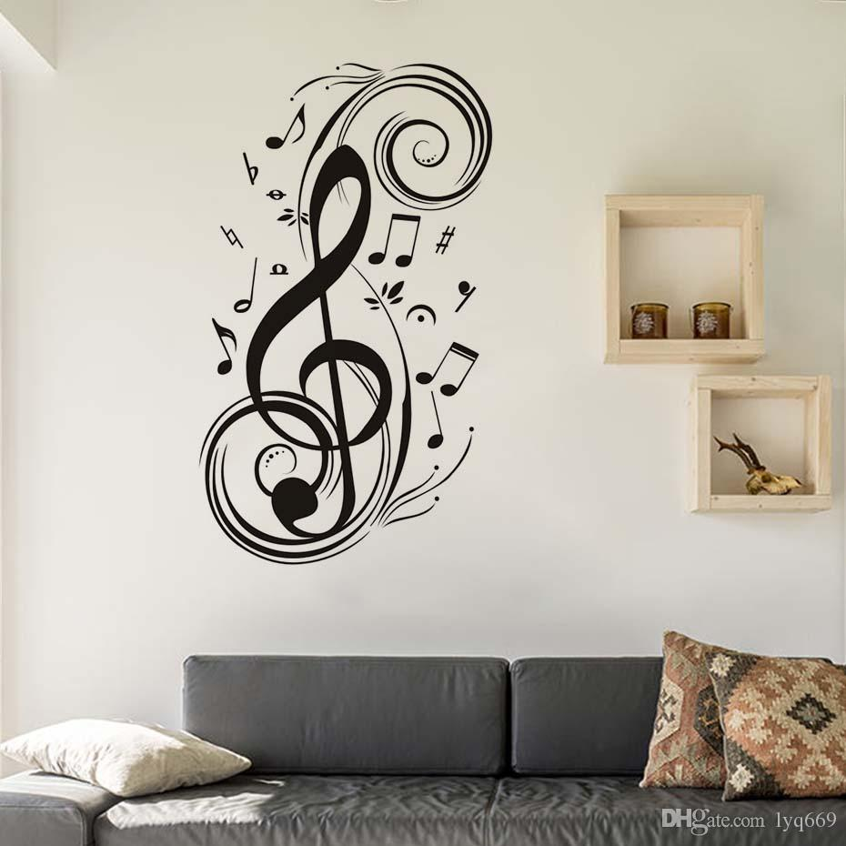 Diy Musical Note Home Decor Music Wall Stickers Waterproof Removable
