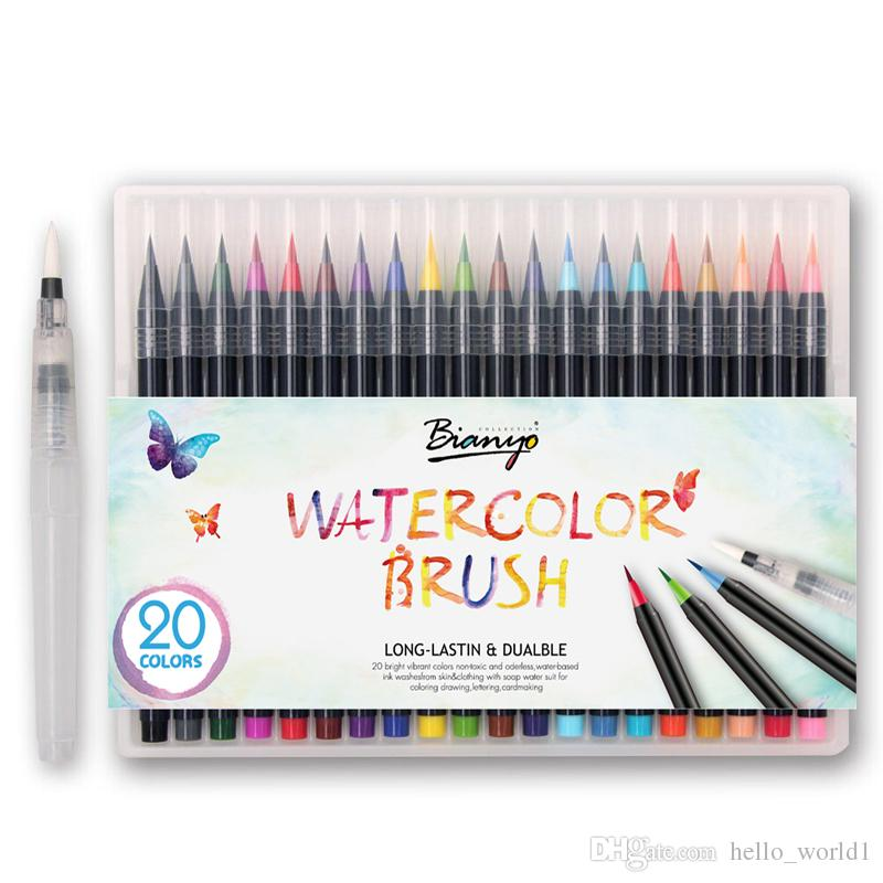 Premium Painting Soft Brush Pen Set Watercolor Art Markers Pen ...