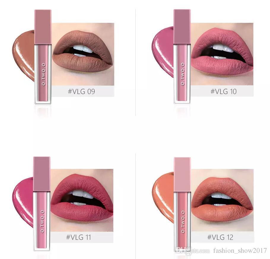 О. два.О 12 цветов бархат матовая помада водонепроницаемый поцелуй доказательство помадой увлажнит натуральный макияж