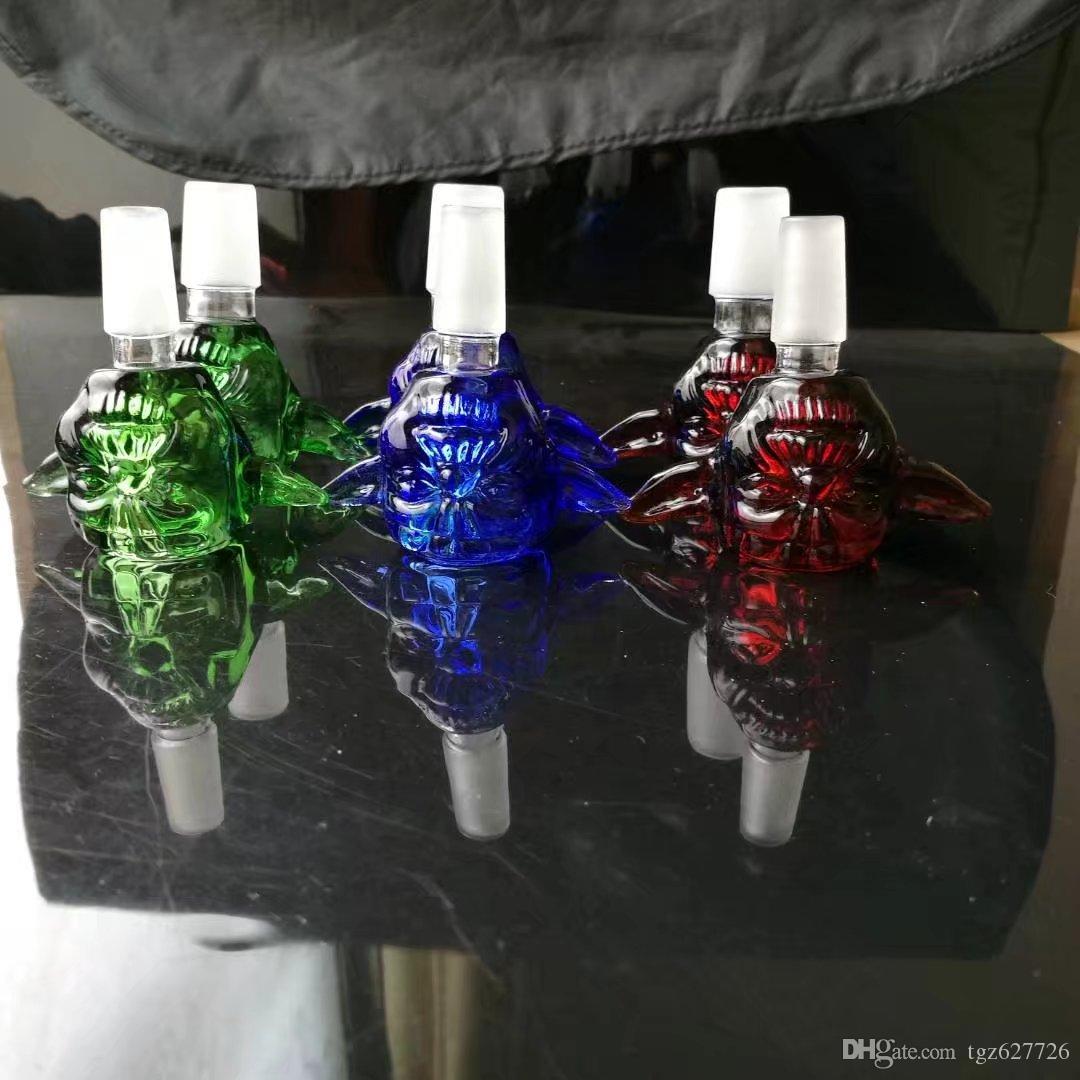 14mm Smoking Bowl Holder,dry herb holder for glass bong,for glass hookah, Mixed Colors Slide Snake Shape Black/Green Dogo