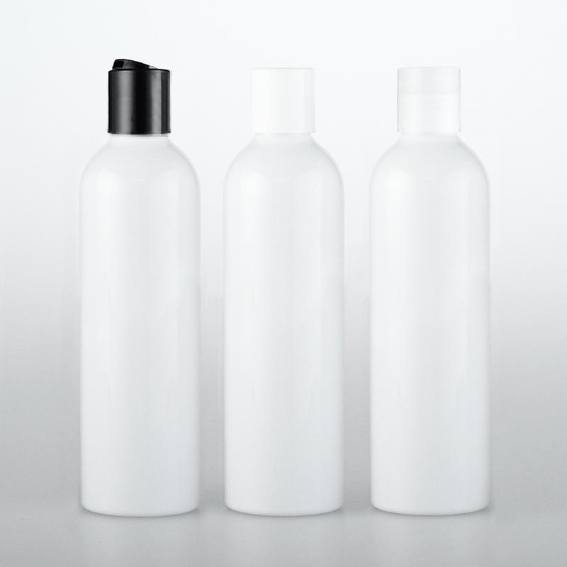 120ml Disc Screw Cap Cosmetics Bottle, Plastic Container,white Empty Liquid Soap Shampoo Bottles 4 OZ white Bottle