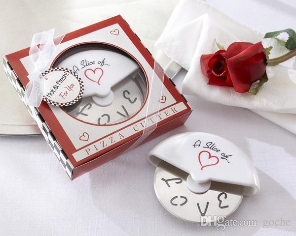 100pcs/lot A Slice of Love Pizza Cutter Wedding Favors And Gifts Wedding Supplies Wedding Souvenirs Gifts Free Shipping