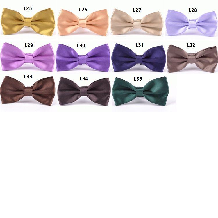 Moda erkek kadın Polyester Ipek Papyon Katı Renk Metal Toka Boyun Bow bağları yüksek kalite ayarlanabilir Bow tie isteğe bağlı çoklu stiller