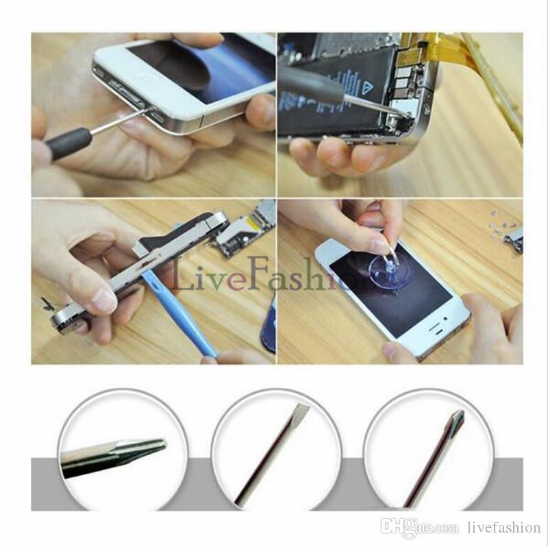 8 1 Onarım Aracı Kitleri Cep Telefonu Açılış Açılış Araçları Için Pentalobe Torx Düz Tornavida Apple iPhone 2G 3GS 4 4 S 5 5 s 6
