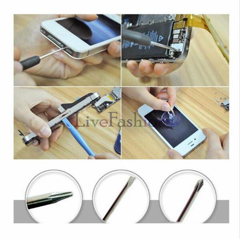 8 in 1 Repair Tool Kits Handy Reparing Öffnungswerkzeuge Pentalobe Torx Schlitzschraubendreher für Apple iPhone 2G 3GS 4 4S 5 5s 6