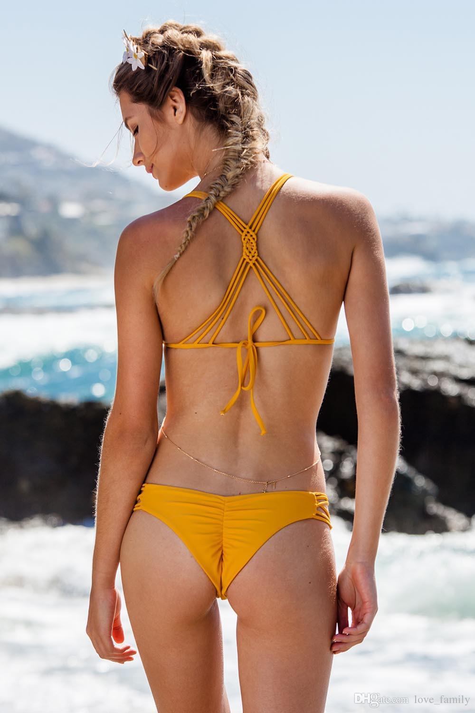 Biquine kadın 2017 Brezilyalı Kalkış Plaj Olabilir Bikini Set Retro Seks Banyo Bikini Mayo Kadın Üstleri Kadın Mayolar