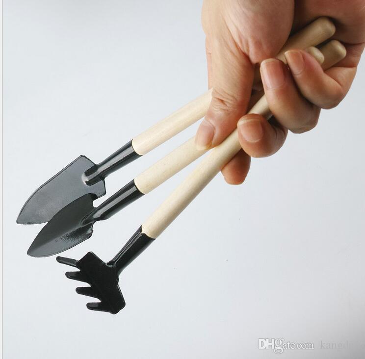 Children Mini Compact Plant Garden Hand Wood Tool Kit Spade Shovel Rake For Gardener pot culture tool