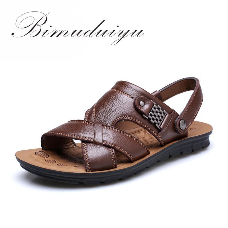bc7ccf00a4fef Wholesale-BIMUDUIYU New Men Beach Shoes Slippers Summer Air   Soft ...