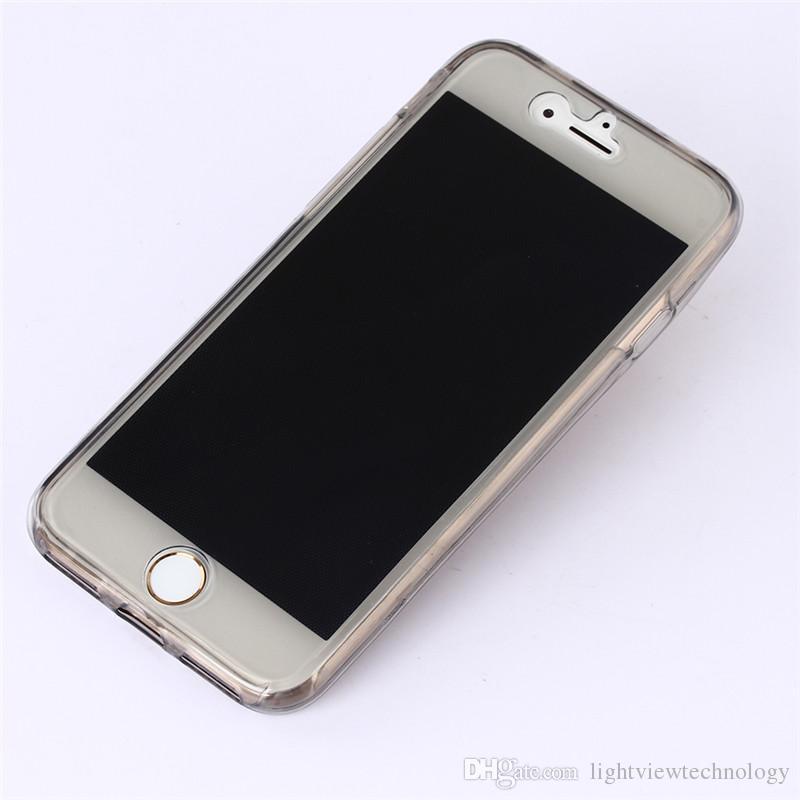 Galaxy S8 bordo S6 Plus bordo S7 J7 Prime 360 gradi Full protettiva TPU Custodia trasparente Cover anteriore e posteriore Touch Case