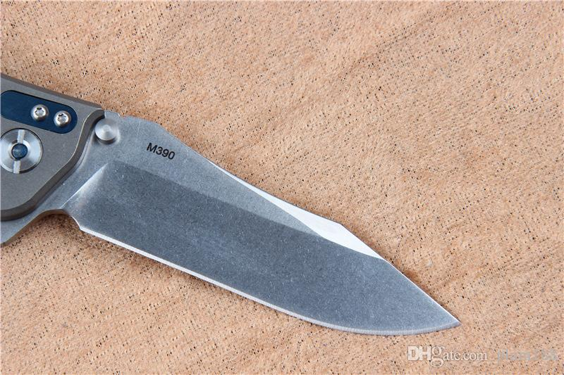 High quality ZT titanium alloy folding knife outdoor multi-function knife M390 steel gift cutter