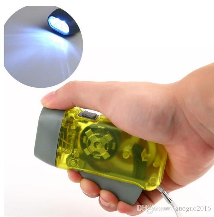 3 LED Hand-Crank Dynamo Wind Up Flashlight Hand-pressing NR No Battery Torch Hot Worldwide G0258