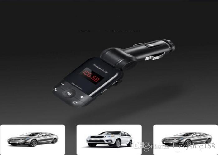 2017 BT26 автомобиля Bluetooth handfree автомобильный комплект MP3 беспроводной FM передатчик прикуривателя зарядное устройство для iPhone 7 Samsung Android bc06 модернизированный