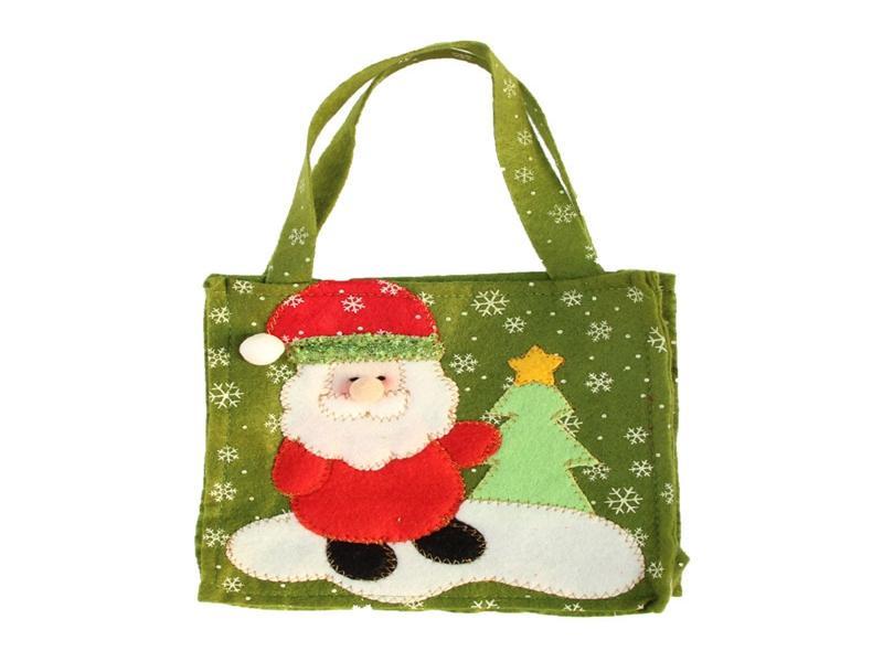 / Trasporto veloce 16 * 16cm Babbo Natale neve man maniglia Sacco Sacchetti regalo decorazione sacchetto di Natale