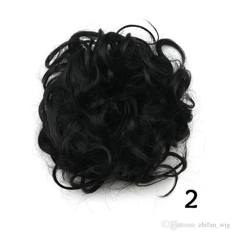 ZF es 12 CM moda para mujer bollos de pelo sintético cubre clips flores chiñones piezas de pelo fácil de usar moño de pelo