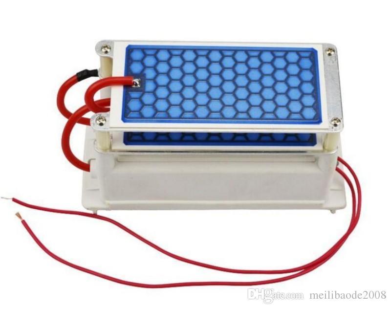 Gerador de Ozônio Portátil de Alta Qualidade 220V / 110V 10g Chapa Dupla de Cerâmica Placa Integrada Gerador de Ozônio Água Ozonizador de Ar MYY