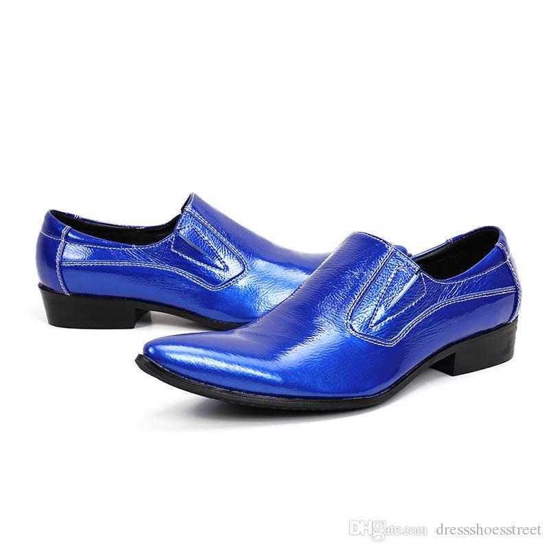 Мода Натуральная Кожа Мужчины Обувь Твердые Мужчины Платье Обувь для Свадьбы Острым Носом Бизнес Офис Обувь Плюс Размер