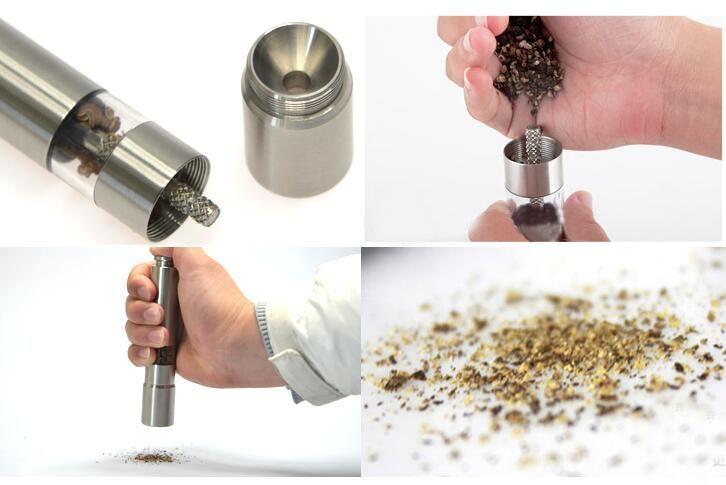 Nouvelle arrivée / en acier inoxydable moulin à poivre Portable Manuel Pepper Muller assaisonnement Meulage Machine