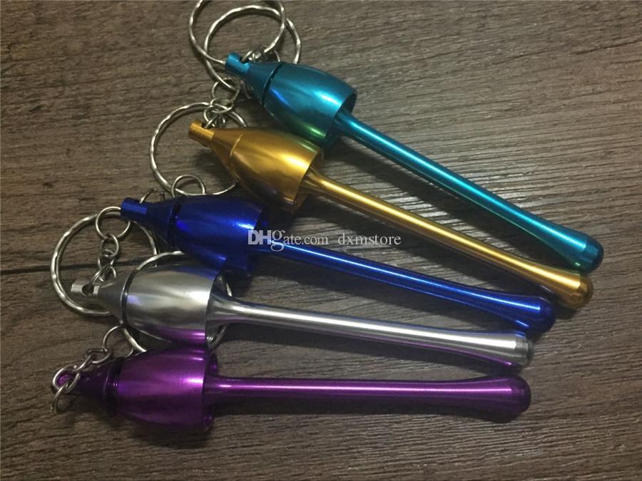 high quality Cheap Aluminum Keychain mushroom Tobacco pipe metal mini smoking pipe pipes smoking accessories keychains key chain