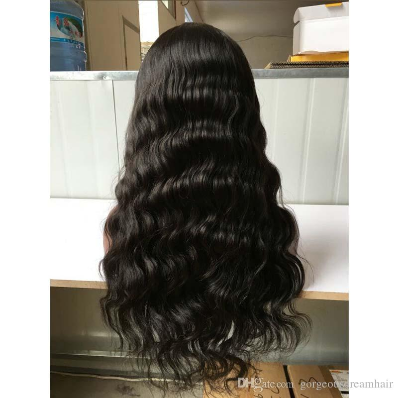 2019 African American Silk top Glueless Full Lace Wigs, Silk Base Lace Front Wigs Wavy, Peruvian Human Hair Wigs for sale