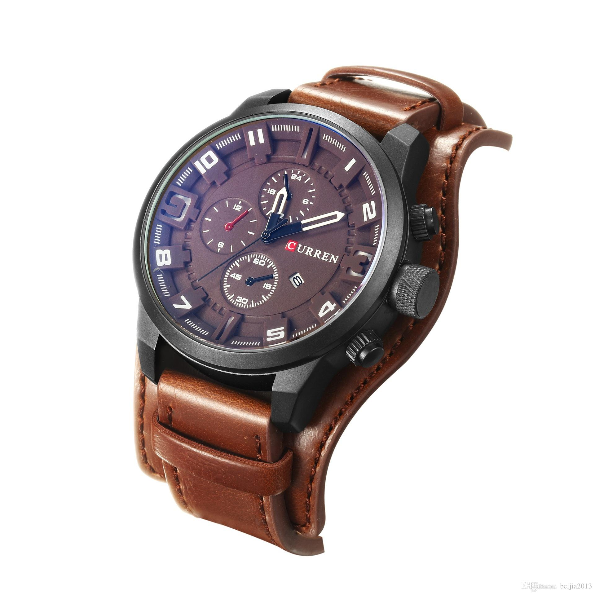 ebbd3d0b225 Relogio Masculino Curren 8225 Mens Watches Top Brand Luxury Men S Sport  Quartz Watch Leather Casual Sport Men Clock Wristwatches Sale Watch Online  Watches ...