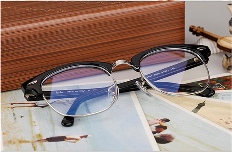 Classical Retro-Vintage 5154eye-Brow Brow Glasses Frame Occhiali da prescrizione in metallo di alta qualità Plancia Occhiali da prescrizione telaio51-27-140 all'ingrosso