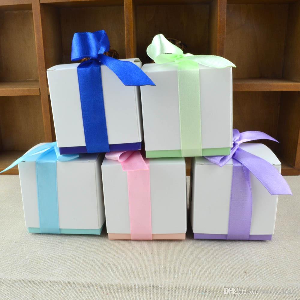 Baby Show Hoofle Boxes Симпатичные ноги Узор с лентой Украшения бантики Вечеринка конфеты Свадебные подарочные коробки конфеты
