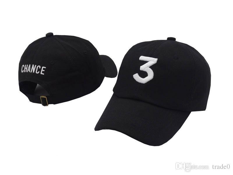 Black Khaki Popular Singer Chance The Rapper 3 Chance Cap Black Letter Embroidery 3D Baseball Caps Hip Hop Streetwear savage Snapback Hats