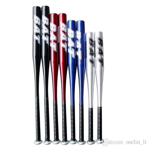 Aluminiumlegierung Baseballschläger Schwarz 30 32 Zoll High Strenght Training Rot Blau Sliver Stick Fledermäuse Softball Batte Base Ball