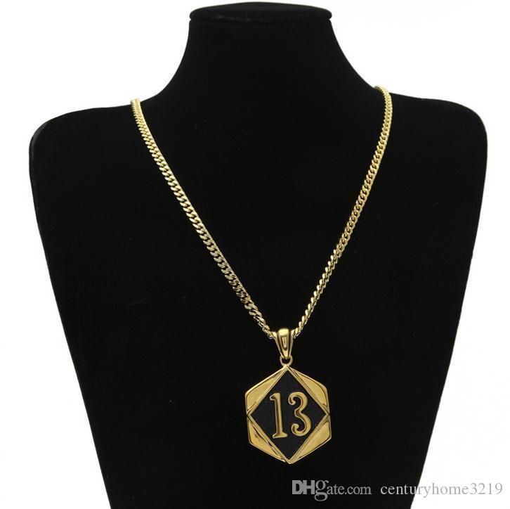LUCKY13 glückliche digitale Tag Halskette