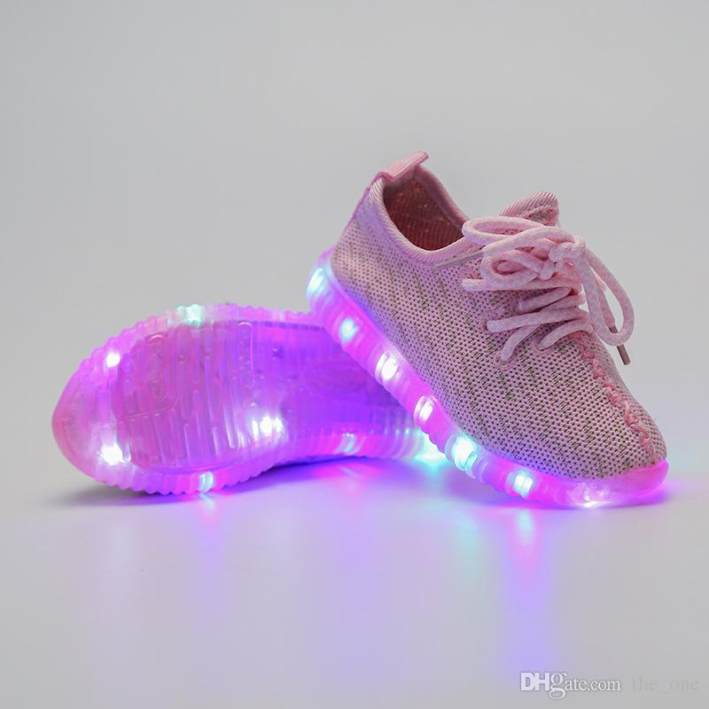Baby Girls trainer boy tenis LED Light Shoes Toddler Anti-Slip Sports Boots Kids Sneakers Children Cartoon Flats child shoes